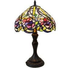 Wisteria & Flower Tiffany Style Lamp