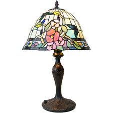Butterfly & Flower Bell Shade Tiffany Style Lamp