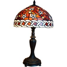 Red Star Tiffany Style Table Lamp