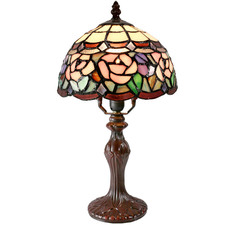 Floral Tiffany-Style Mini Table Lamp