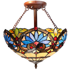Boheme Uplighter Tiffany-Style Pendant Light