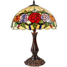 Crystal Rose Tiffany-Style Table Lamp