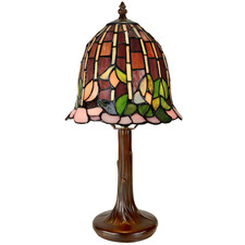 Lotus Tiffany-Style Mini Table Lamp