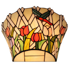Dragonfly Tulip Tiffany-Style Wall Lamp