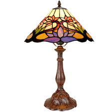 Water Lily Tiffany-Style Bedside Lamp