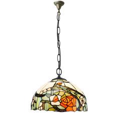 Rose Tiffany-Style Pendant Light