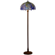 Blue Wisteria Tiffany-Style Floor Lamp