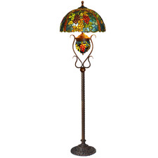 Grape Double Lit Tiffany-Style Floor Lamp