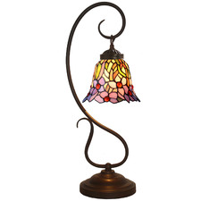Amazon Iris Flower Tiffany-Style Table Lamp