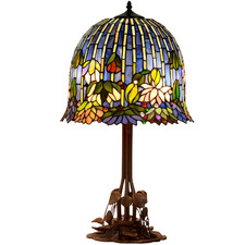 Flowering Lotus Tiffany-Style Table Lamp