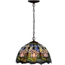 Tulip Tiffany-Style Pendant Light