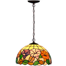 Flower Morning Tiffany-Style Pendant Light