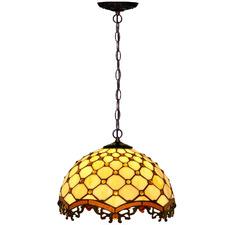 Beaded Raindrop Tiffany-Style Pendant Light
