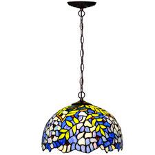Blue Wisteria Tiffany-Style Pendant Light
