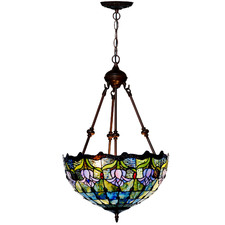 Tulip Uplighter Tiffany-Style Pendant Light