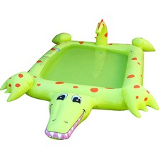 Aligator Pool With Water Sprayer