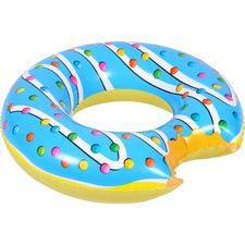 Kids Blue Bitten Glazed Doughnut Pool Float