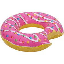 Kids Pink Bitten Glazed Doughnut Pool Float