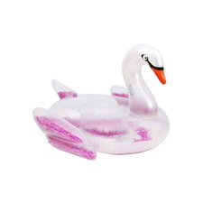 Float Like A Feather Swan Inflatable Pool Toy