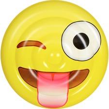 Crazy Face Emoji Disc Pool Float