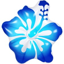Blue & White Hibiscus Pool Float