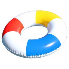 White Panelled Inflatable Swim Ring