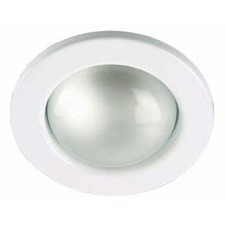 One Light Fixed Recessed Light in White with Spring Clip (Set of 2)