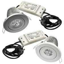 LED 15W Downlight Kit 4000K Dimmable in Silver