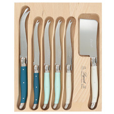 6 Piece St Tropez Laguiole Debutant Cheese Knife Set