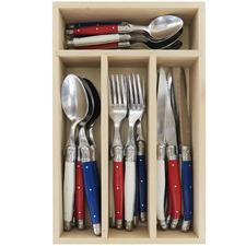 24 Piece Francais Laguiole Debutant Cutlery Set