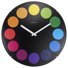 35cm Bright Dots Dome Wall Clock