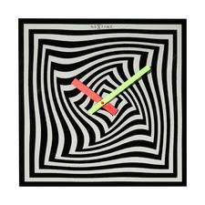 Black & White Gracy Time Illusion Wall Clock