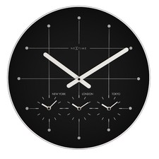 Black & White Big City Wall Clock