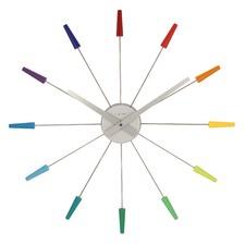 58cm Rainbow Plug Inn Frits Vink Wall Clock