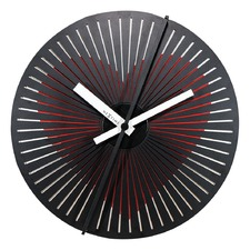 Red & White Kinegram Wall Clock
