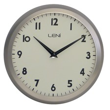 23cm Round Metal School Wall Clock
