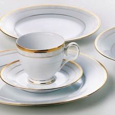 Hampshire Gold 20 Pieces Dinner Set with Gift Box