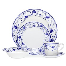 Rhapsody Blue 20 Piece Dinner Set
