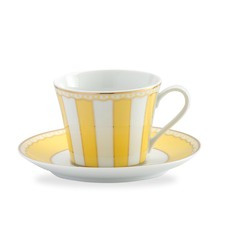 Carnivale Cup and Saucer Set in Yellow