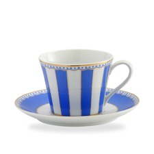 Carnivale Cup and Saucer Set in Dark Blue