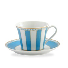 Carnivale Cup and Saucer Set in Light Blue
