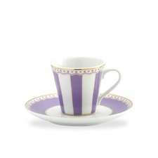 Carnivale AD Cup and Saucer Set in Purple