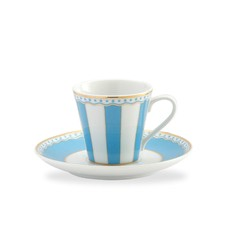 Carnivale AD Cup and Saucer Set in Light Blue