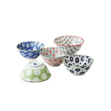 5 Piece Porcelain Bowl Set
