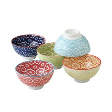 5 Piece 11.5cm Porcelain Bowl Set