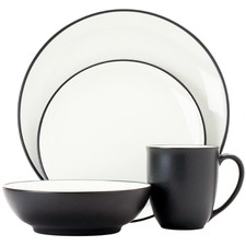 16 Piece Colorwave Graphite Coupe Dinner Set