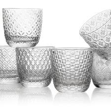 Clear Sixties 310ml Glass Tumblers (Set of 6)