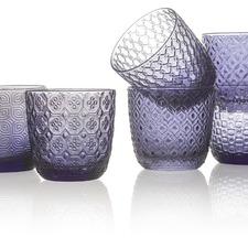 Indigo Sixties 310ml Glass Tumblers (Set of 6)