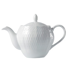 White Noritake 500ml Porcelain Teapot