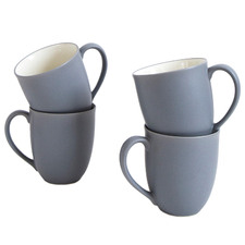 Slate Colorwave Stoneware Mugs (Set of 4)